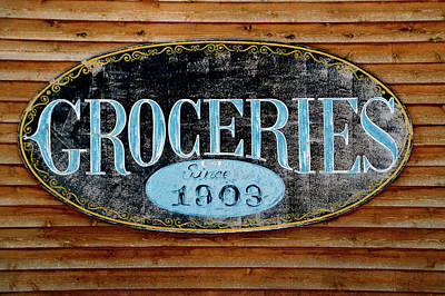 Hulett Wyoming 1903 Groceries Signage Poster by Thomas Woolworth