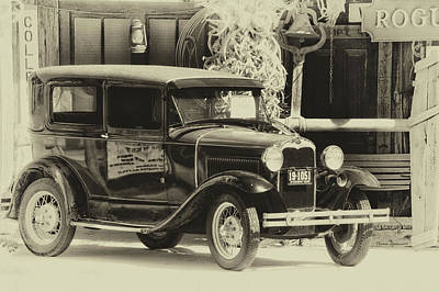 Hulett Wyoming Antique Car For Sale Heirloom Poster by Thomas Woolworth