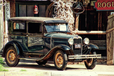 Hulett Wyoming Antique Car For Sale Poster by Thomas Woolworth