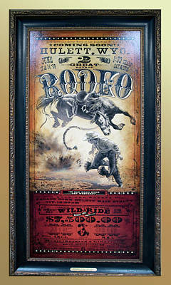 Hulett Wyoming Rodeo Signage Poster by Thomas Woolworth