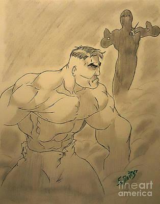 Hulk V Stark Poster by Scott Davis