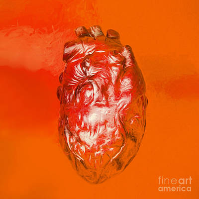 Human Heart In Digital Art Poster by Jorgo Photography - Wall Art Gallery
