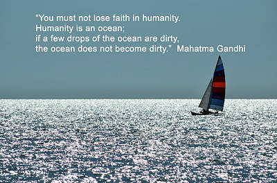 Humanity Is An Ocean Poster