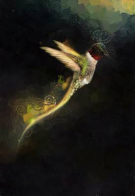 Hummingbird Hotty Totty Style Poster by Catherine Lott