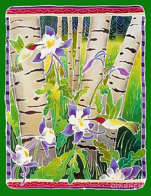 Hummingbirds In The Aspen Poster by Harriet Peck Taylor