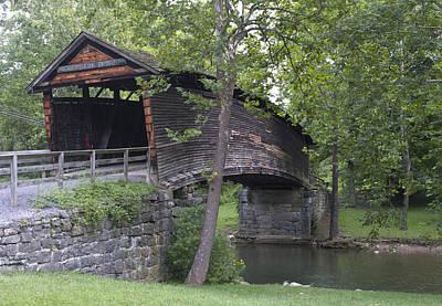 Humpback Covered Bridge In Covington Virginia Poster