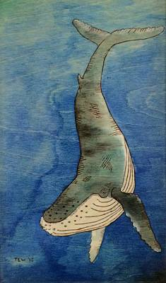 Humpback Poster by Ned Willis