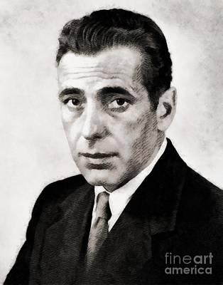 Humphrey Bogart, Hollywood Legend By John Springfield Poster by John Springfield
