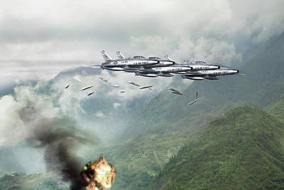 Hun Line Of Fire Poster by Peter Chilelli