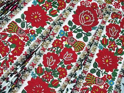 Hungarian Beaded Emboidery From Kalotaszeg Photograph Print Poster
