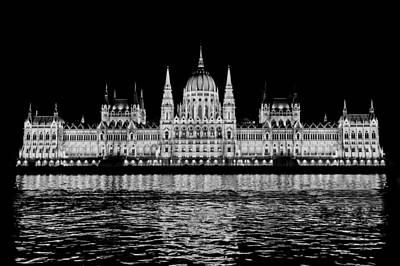 Hungarian Parliament Building Poster