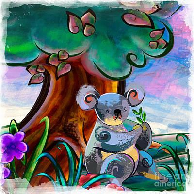Hungry Koala Poster by Bedros Awak