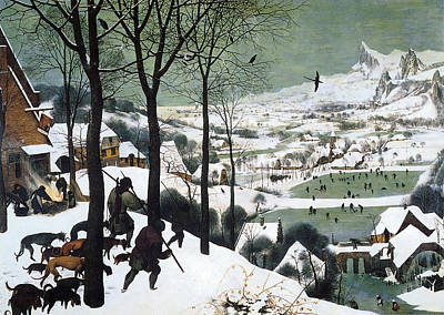 Hunters In The Snow Poster by Pieter Bruegel