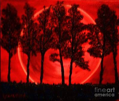 Poster featuring the painting Hunters Moon by Lori Jacobus-Crawford