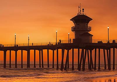 Huntington Beach Pier, California  Poster by Don Spenner