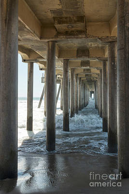 Poster featuring the photograph Huntington Beach Pier From Below by Ana V Ramirez