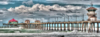Poster featuring the photograph Huntington Beach Winter 2017 by Jim Carrell