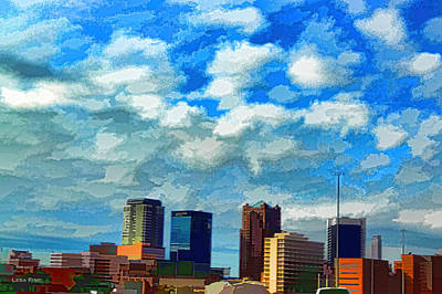 Huntsville Alabama Skyline Abstract Art Poster