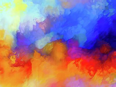Hurricane Abstract Poster by Georgiana Romanovna