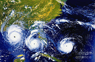 Hurricane Andrew Time Lapse Poster