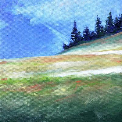 Poster featuring the painting Hurricane Ridge by Nancy Merkle