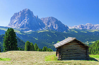 Hut In Mountain Landscape Poster