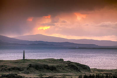 Hutcheson's Monument On The Isle Of Kerrera At Sunset Poster