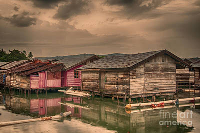 Poster featuring the photograph Huts In South Sulawesi by Charuhas Images