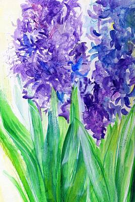 Hyacinths At Debbie's Poster