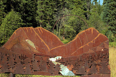 Hyalite Canyon Sculpture Poster