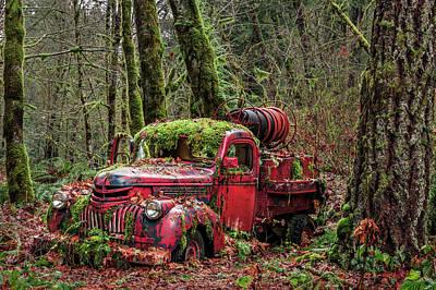 Hybrid Fire Truck Poster