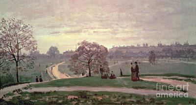 Hyde Park Poster by Claude Monet