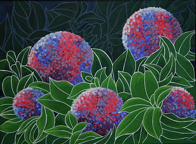 Poster featuring the painting Hydrangea Grandiflora by Paul Amaranto