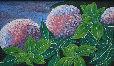 Poster featuring the painting Hydrangea by Paul Amaranto
