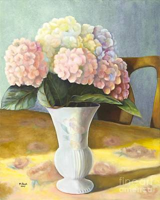 Poster featuring the painting Hydrangeas by Marlene Book