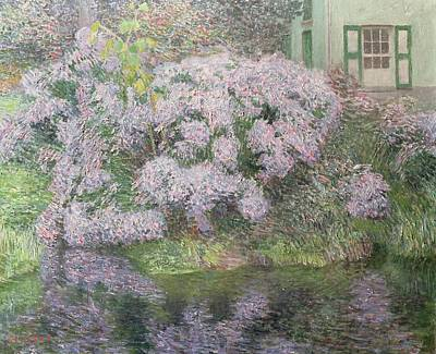 Hydrangeas On The Banks Of The River Lys Poster by Emile Claus