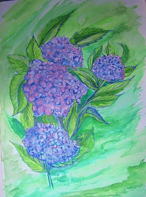 Hydrangea Poster by Cathy Long