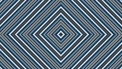 Hypnotic Magic Colorfull Geometric Shapes Poster