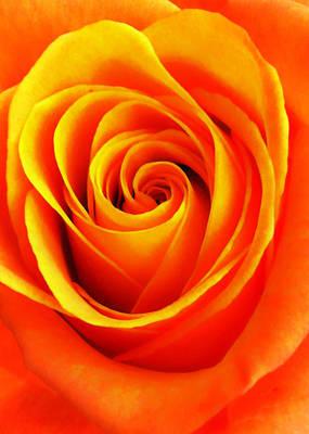 Hypnotic Orange Poster
