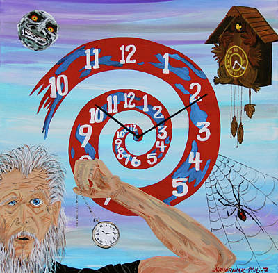 Hypnotic Time Poster by Mike Nahorniak