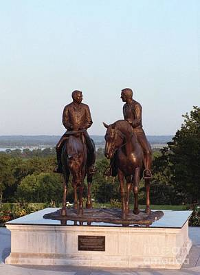 Hyrum And Joseph Smith Equestrian Bronze Monument At Nauvoo Illinois Poster by Kim Corpany