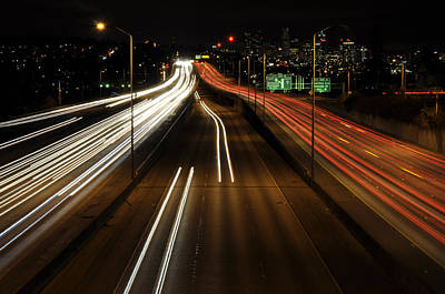 I-5 At Night 2 Poster by Pelo Blanco Photo