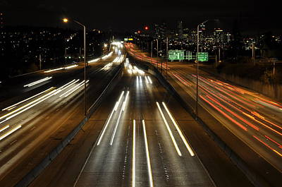 I-5 At Night Poster by Pelo Blanco Photo