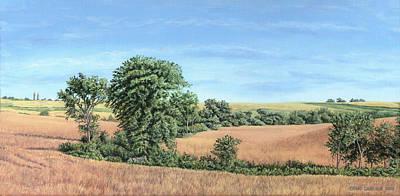 I-74 Soybean Field Poster by Craig Carlson