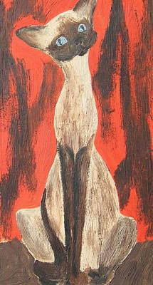 I Am A Siamese If You Please Poster by Marsha Elliott