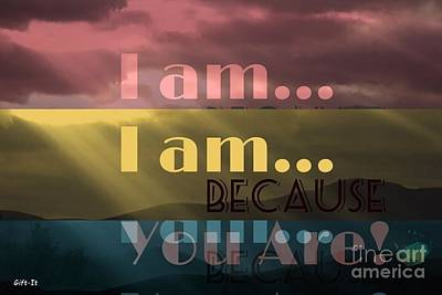 I Am Because You Are Poster
