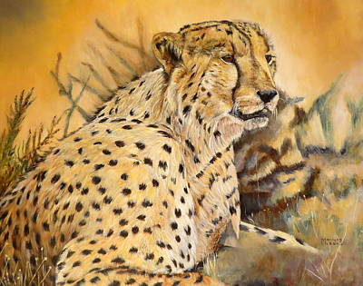 I Am Cheetah Poster by Marilyn  McNish
