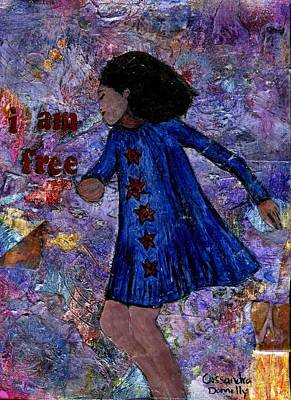 I Am Free Poster by Cassandra Donnelly