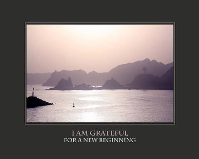 I Am Grateful For A New Beginning Poster