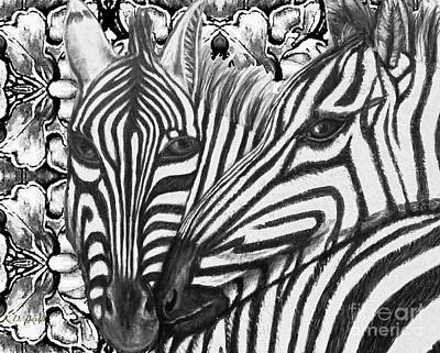 I Am So Into You Zebra Love Poster by Kimberlee Baxter